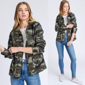 SYB Camo Love Jacket - OLIVE